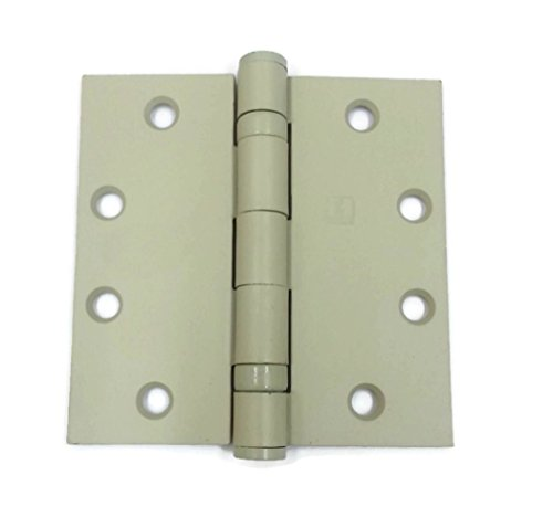 Hager Full Mortise Steel Hinge BB1279 4.5 x 4.5 USP/600 (Prime for Paint) - Box of 3 Ball Bearing hinges by HAGER Companies