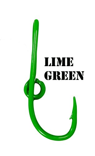 Eagle Claw Lime Green Hat Hook Fish hook for Hat Lime Green Fish Hook Money/Tie Clasp
