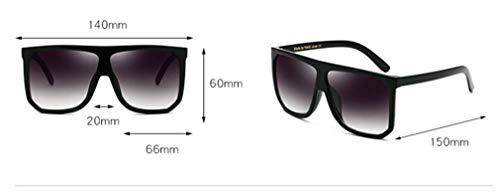 Unisex Súper Mujer Sol Gafas de UV400 Ligero C9 Espejo Vintage Fliegend Lente Retro Polarizadas Sol Gafas Hombre de Cuadrados Gafas T0wn5FqC