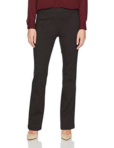 Nine West Women's Solid Ponte Pant, Charcoal, 12