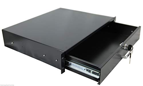 2u Rack Wall Tower - New 2U / 3U / 4U Drawer Rack Mount DJ 19'' Rack Case Equipment Deep Drawer Key Lockable (2U)