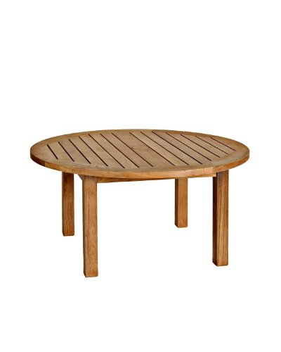 Three Birds Casual Canterbury 36-Inch Round Coffee Table, Teak price