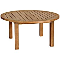Three Birds Casual Canterbury 36-Inch Round Coffee Table, Teak
