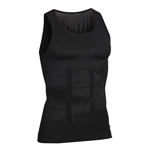 Men Body Shaper Slimming Belt Belly Vest Underwear Men Body Homme Compression Waist Control Tummy Belt,Black,M ()