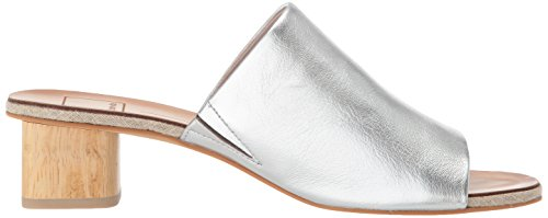 Leather Women's Kaira Dolce Vita Silver Slide Sandal E5YqUq0