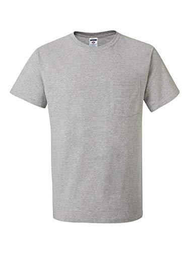 Jerzees Men's Heavyweight Chest Pocket T-Shirt, XXX-Large, Athletic Hthr