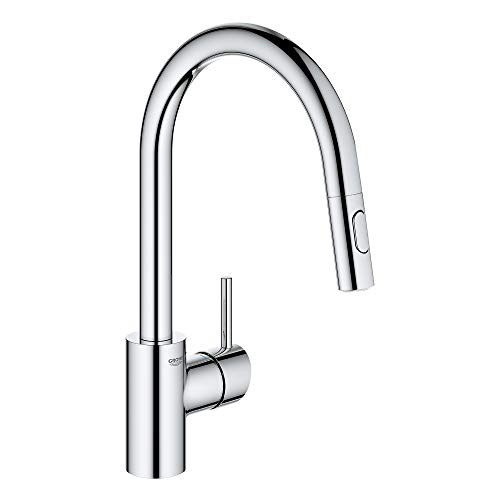 GROHE 3134910E Concetto Single-Handle Kitchen Faucet, Starlight Chrome