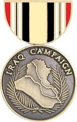Campaign Medal Pin (Iraq Campaign Medal Lapel or Hat Pin)