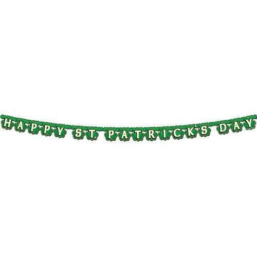 Morris Happy St. Patrick's Day Shamrock Streamer Party Accessory ()
