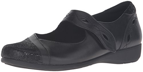 Aravon Women's Alana-AR Mary Jane Flat,Black,8 2A US