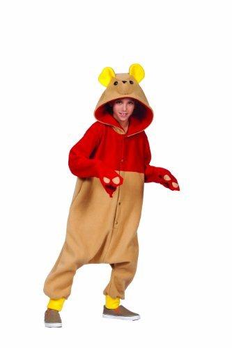 RG Costumes Girl 40276 Funsies' Honey Bear Costume, Tan/Red, Medium