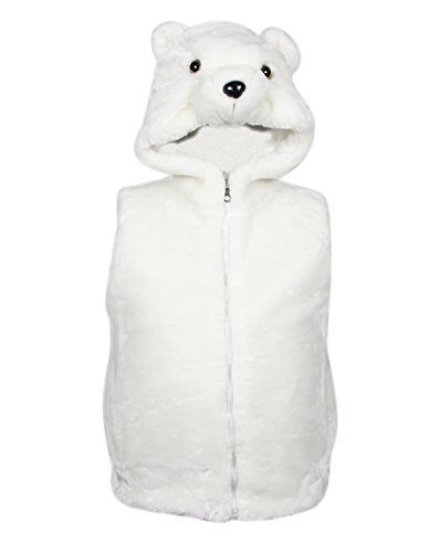Bioterti Kids' Animal Hooded Vest For Dress Up/With Pockets/Manufacture/16 Amazing Styles (Large, Polar (Toddler Polar Bear Costumes)