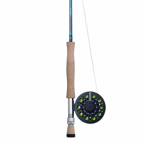 Redington Crosswater Outfit Reel, Line Weight-8, 9-Feet, 4-Piece, Blue (Fly Fishing Redington)