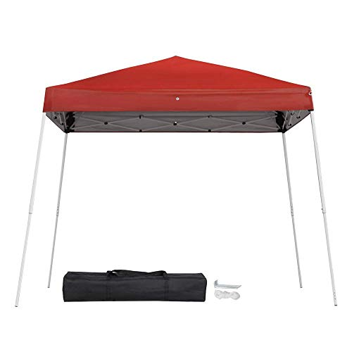 Topeakmart Large Heavy Duty Pop Up Tent 10x10ft for Outdoor Party Gazebo Canopy with Carrying Bag Red