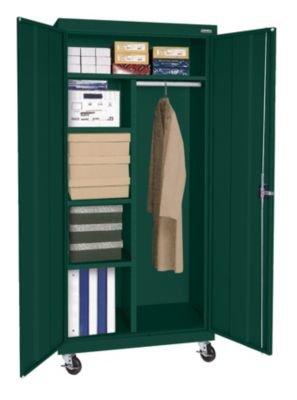 Sandusky Lee TACR362460-08 Transport Series Mobile Combination Storage Cabinet, Forest (Series Mobile Combination Cabinet)