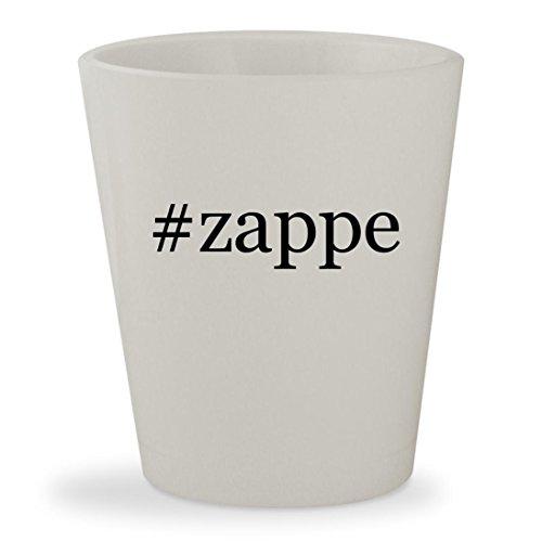 [#zappe - White Hashtag Ceramic 1.5oz Shot Glass] (Futurama Zapp Brannigan Costume)