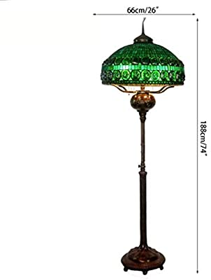 Amazon.com: Tiffany Style Floor Standing Lamp,74 Inch Tall ...