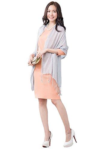 ACUX(エックス) ストール ショール レディース 結婚式 羽織物 冷房対策 お呼ばれ パーティーボレロ 二次会 ラメストール 大判ショール 165cm*52cm