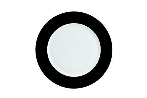 Tognana 32 cm Porcelain Olive Round Platter in Crepe Paper Pattern, Black