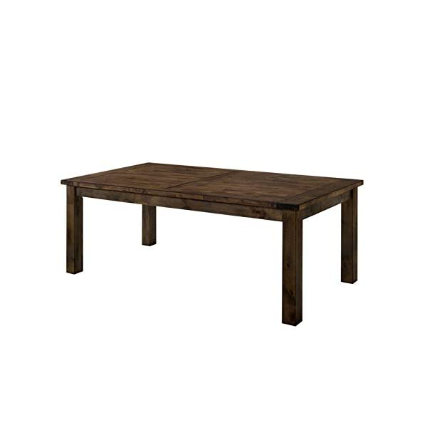 Furniture of America Belton I Transitional Wood Dining Table in Rustic Oak