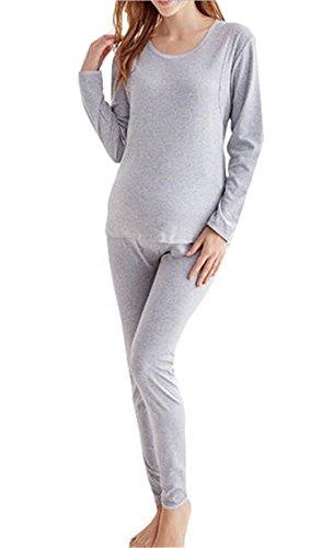 Pezzi Pigiama Pigiama a Due Maternity Sleepwear Rotondo a Manica Grey Strati Dark Pigiama Maternity Donna Collo Deluxe Sleepwear l'allattamento BESTHOO Lunga Bwqn75S5