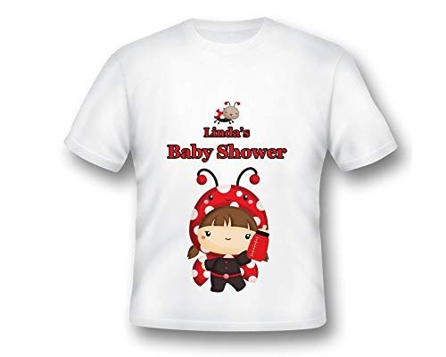Custom Ladybug Baby Shower t-shirt, Baby shower Shirt, Customized Shirt, Printed Shirt, Baby Shower Girl, Ladybug Baby Shower, Baby shower -