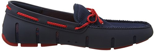 Swims Braided Lace Loafer, Náuticos Hombre Azul (Navy/Red)