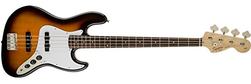 Squier by Fender Affinity Jazz Beginner Electric Bass Guitar – Rosewood Fretboard, Brown Sunburst