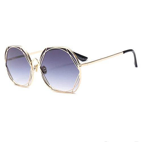 Redondas Y Unidos Gafas De Moda Metal De Europa Sol Gray De Sol Gafas Blue Trend Gafas De Estados S1SvY