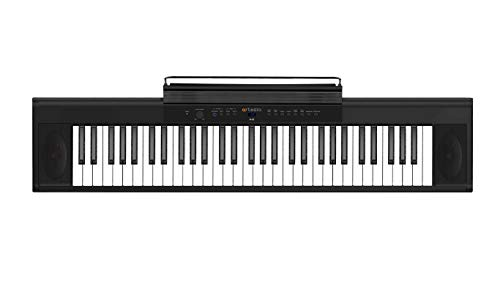Artesia A-61, Digital Piano (Black) 61-Key with 8 Dynamic Voices with USB + Power Supply + Sustain Pedal + Arturia Analog Lite 500 + Bitwig studio 8 Track