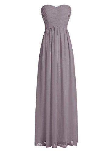 Dressystar Robe de demoiselle d'honneur/de soirée longue formelle Taille 52 Gris