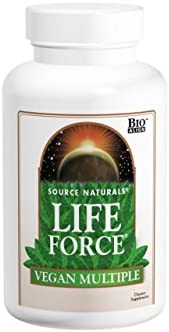 SOURCE NATURALS Life Force Vegan Multiple Tablet, 60 Count