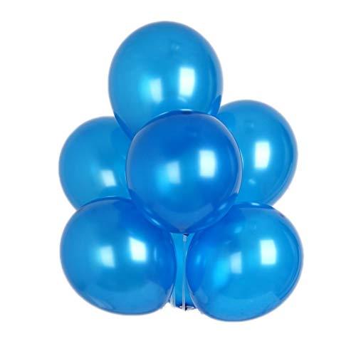 BalsaCircle 100 pcs Royal Blue 12-Inch Tall Metallic Latex Balloons - Wedding Event Birthday Graduation Party Decorations -