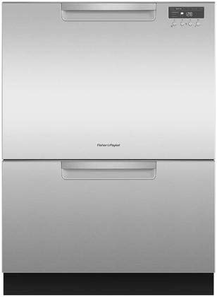 Fisher Paykel DD24DCHTX9 24″ Double DishDrawer Dishwasher with 14 Place Settings SmartDrive TM Technology 2 Cutlery Baskets and Built-In Water Softener in Stainless