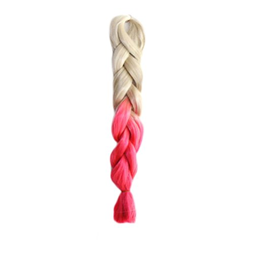wigs, Hatop Individual Braid Wigs Big Braids Color Gradient Small Black Dirty Pigtail (J)