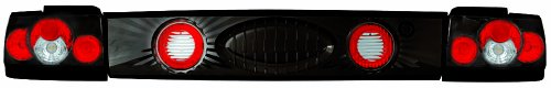 IPCW CWT-2029B2 Toyota Corolla Bermuda Black Tail Lamp with Crystal Eyes - 3 Piece (Corolla Toyota Crystal)