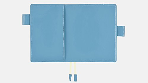 Hobonichi Techo Planner - Leather: Sky Blue Set (English/A6/Jan 2018 Start)