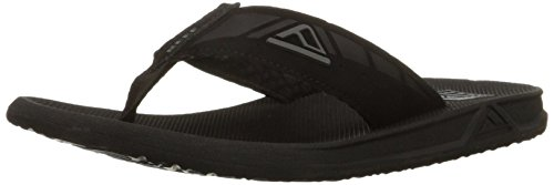 Reef Mens Phantom Sandals, Black , 14 M US