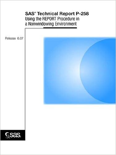 SAS(R) Technical Report P-258, Using the REPORT Procedure in