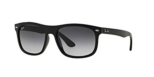 Ray-Ban Men's Injected Man Rectangular Sunglasses, Black, 56 - Replacement Parts Ray Ban
