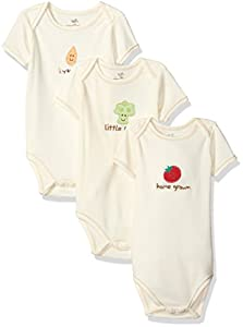 Touched by Nature Unisex Baby Organic Short Sleeved Bodysuit 3 Pack