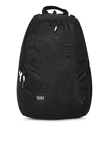 Wildcraft Wiki 3 Jacquard Backpack  Black