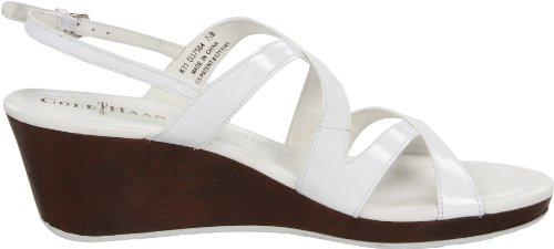 Cole Haan Kvinners Luft Jaynie Plattform Sandal Hvit Patent