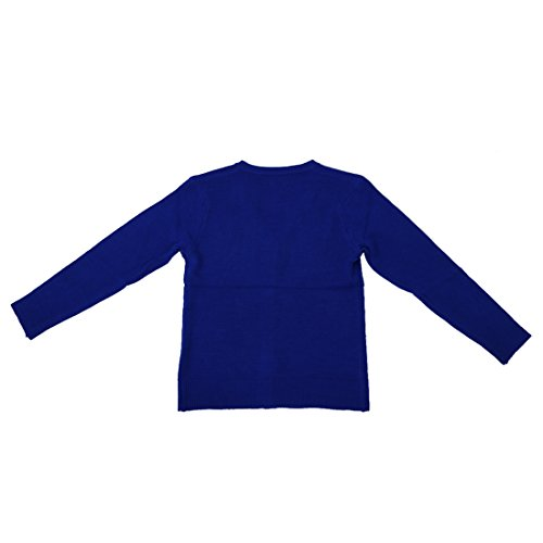 Blu lunga del V maglia cashmere a cardigan manica R SODIAL collo Blu blu navy AwFHqx