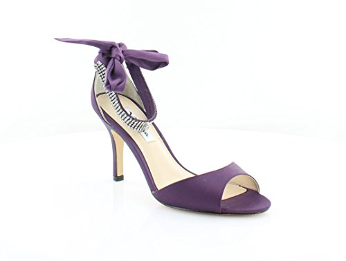 Nina Vinnie Women's Heels Eggplant Luster Size 6.5 M - Eggplant Shoes