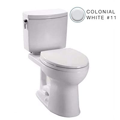 Toto C454CUFG#11 Drake II 1G Toilet Bowl with SanaGloss, Colonial White, 2-Piece