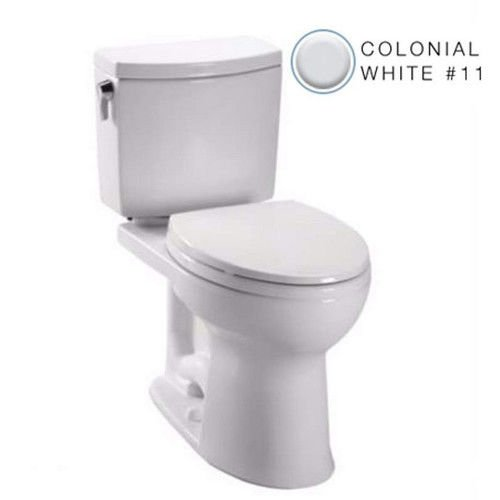 Toto C454cufg 11 Drake Ii 1G Toilet Bowl With Sanagloss  Colonial White  2 Piece