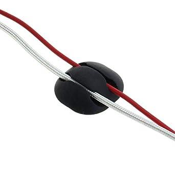 Ordinateur pack de 10 PC c/âble de charge noir de WEISS Portable Maison et Bureau TV Porte-c/âble auto-adh/ésifs Serre-c/âbles durables Organiseur et Gestion de c/âbles pour C/âble USB