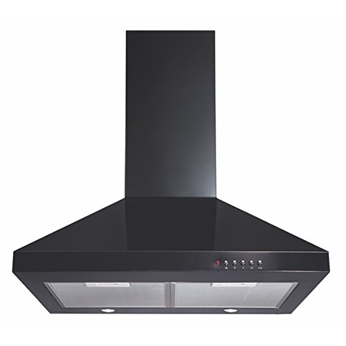 CDA ECH61BL 60cm Chimney Cooker Hood Kitchen Extractor Fan In Black