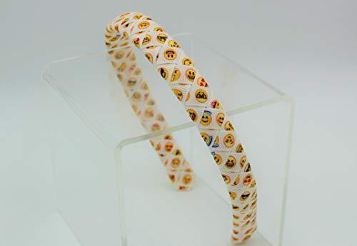 (Emoji Printed Woven Braided Ribbon Headband (1/2)